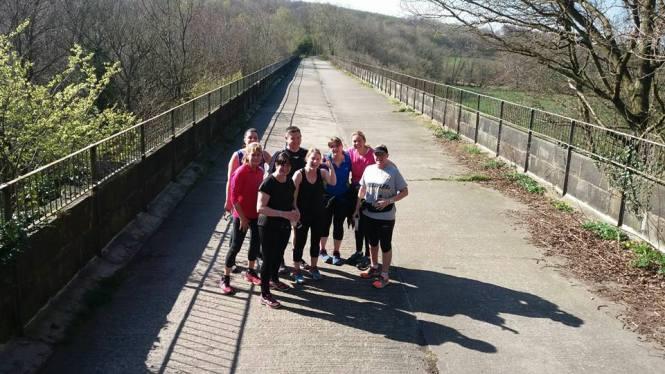 Absolute beginners on Derwent Walk viaduct