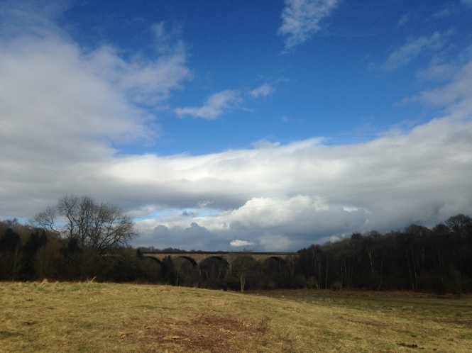Sunshine over Nine Arches Viaduct